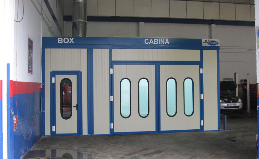 Cabinas de pintura para autom viles sisvent s c a for Como pintar puertas placas nuevas